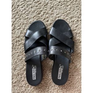 🌿 Awesome Pikolinos Black Strap Sandals